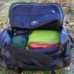 the duffle bag gear packed in the duffel bag