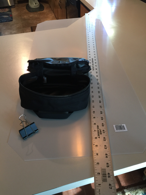 Step 1 - a tool bag and a plastic sheet for hacking