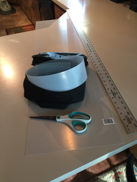Step 2 - a strip of plastic to make the sides stand up