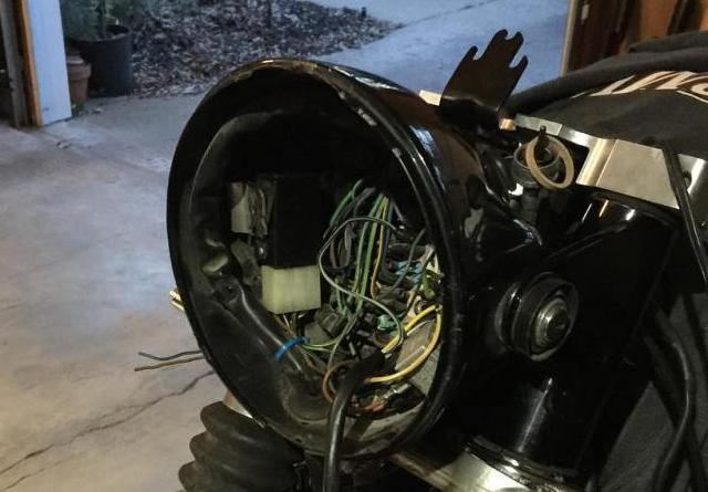 Otus' headlight bucket threw up