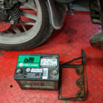That's a Tractor Battery and a Busted Battery Box